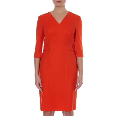 Boss by Hugo Boss Red Tailored Dazina Dress