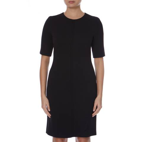 Boss by Hugo Boss Black Ribbed Fitted Hamella Dress