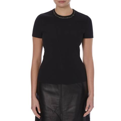 Boss by Hugo Boss Black Embellished Neck Ipena Top