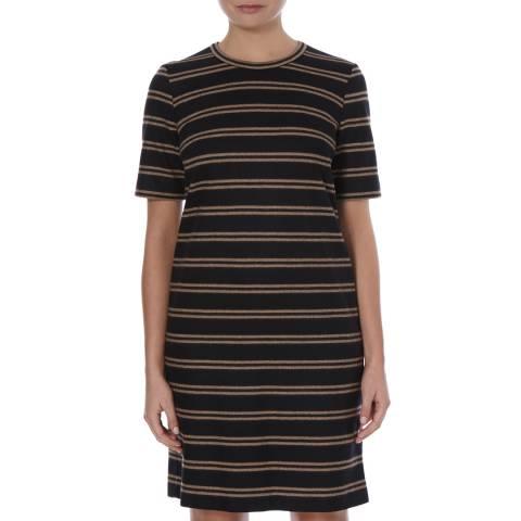 Boss by Hugo Boss Navy/Brown Harrietta Wool Dress