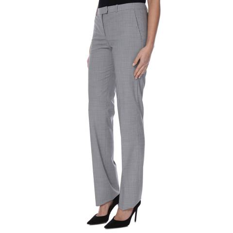 Boss by Hugo Boss Grey Tame Wool Blend Trousers