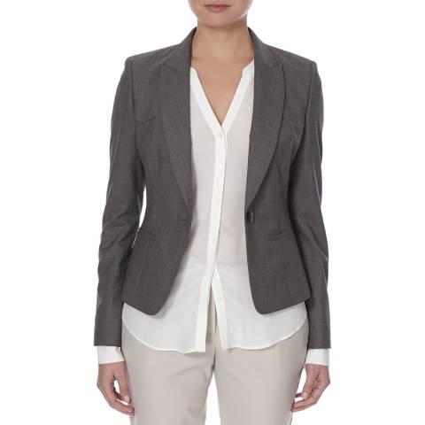 Boss by Hugo Boss Dark Grey Janeka Virgin Wool Blend Jacket