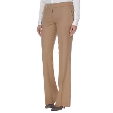 Boss by Hugo Boss Brown Flared Wool Blend Tulea2 Trousers