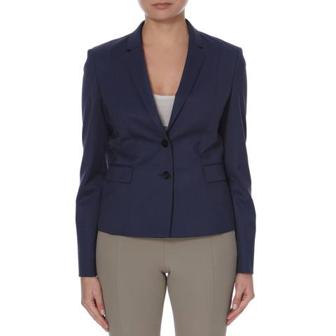 Boss by Hugo Boss Blue Jaru Virgin Wool Blend Jacket