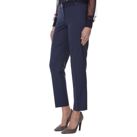 Boss by Hugo Boss Blue Tiluna Wool Blend Trousers
