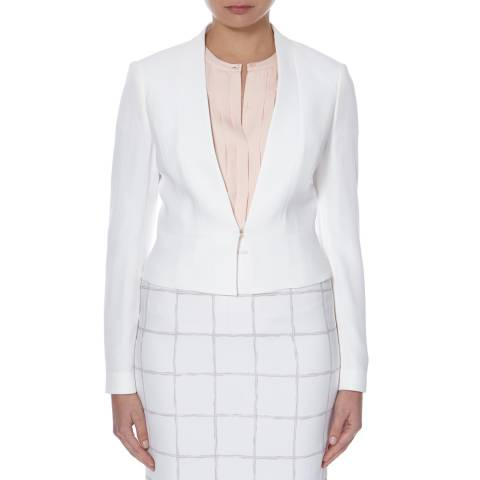 Boss by Hugo Boss White Tailored Jipina Jacket