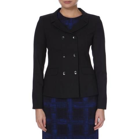 Boss by Hugo Boss Black Double Breasted Wool Blend Jerisa Jacket