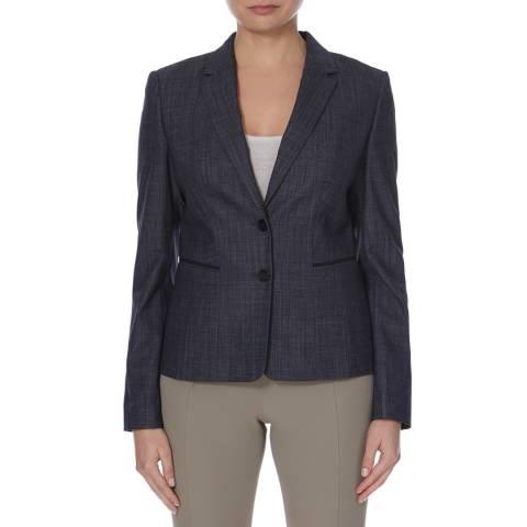 Boss by Hugo Boss Navy Juleani Virgin Wool Blend Jacket