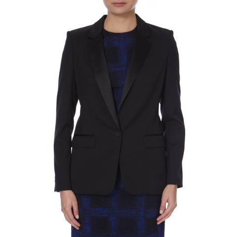 Boss by Hugo Boss Black Tux Style Wool Blend Jocina Jacket