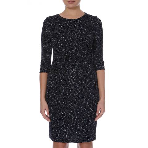 Boss by Hugo Boss Black/Multi Gathered Epulina Dress