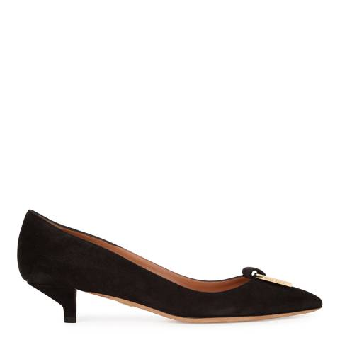 Boss by Hugo Boss Black Suede Munich Kitten Heels