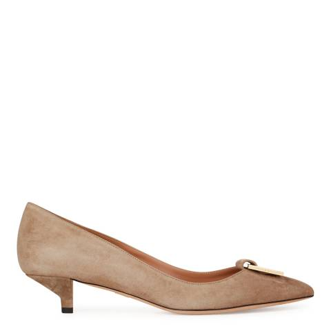 Boss by Hugo Boss Light Beige Suede Munich Kitten Heels