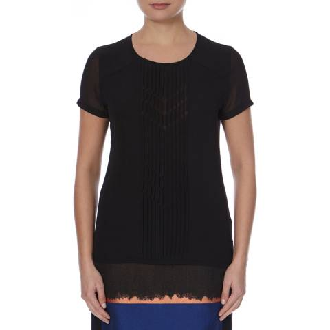Boss by Hugo Boss Black Front Pleated Detail Enolde Top