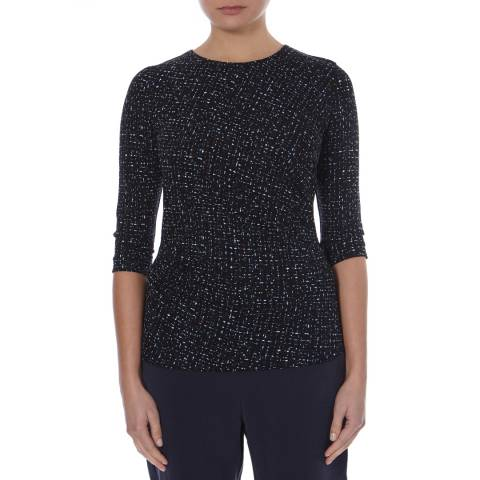 Boss by Hugo Boss Black/Multi Gathered Eurane Top