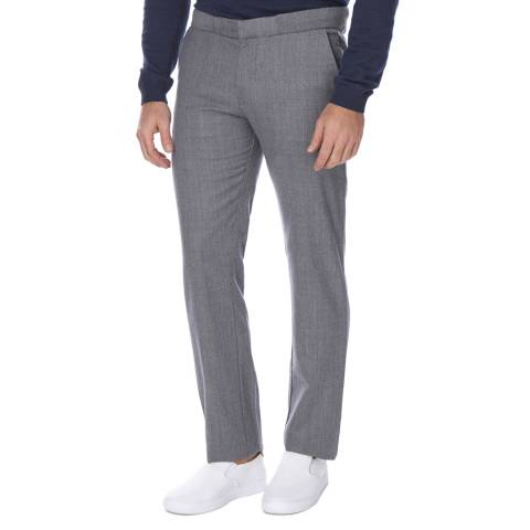 Boss by Hugo Boss Mid Grey Slim Fit Wool Blend Rice Trousers