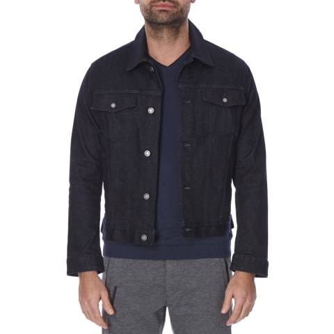 Boss by Hugo Boss Navy Cotton Blend Windham Denim Jacket