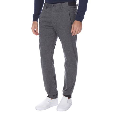 BOSS Green Mid Grey Slim Fit Cotton Blend Lautner Trousers