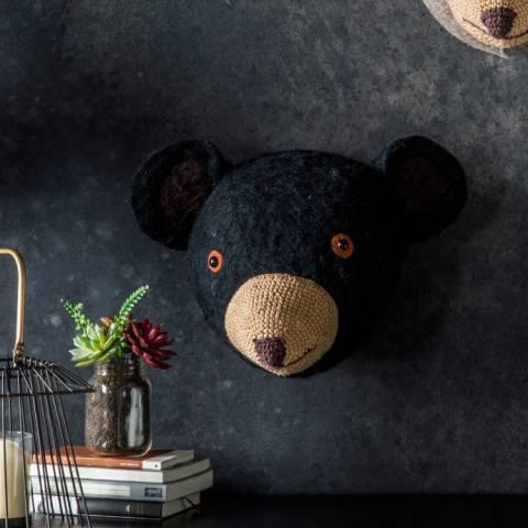 Kilburn & Scott Black Gilbert Grizzly Bear Head