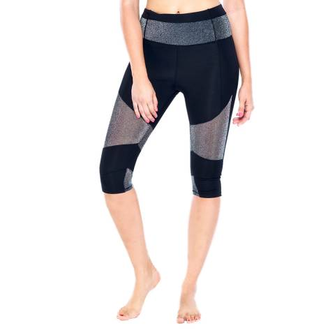 Electric Yoga Black Glitter Cropped Legging