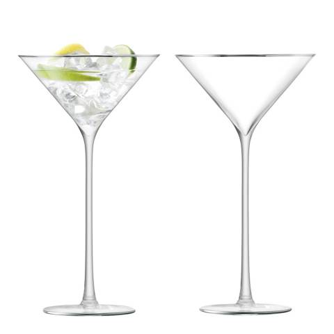 LSA Set of 2 Platinum Celebrate Cocktail Glasses