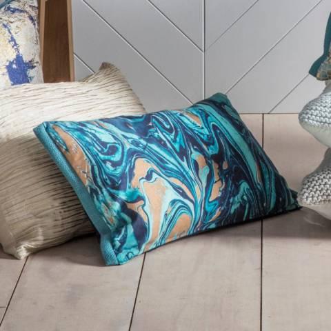 Gallery Marble Metallic Cushion 30x50cm