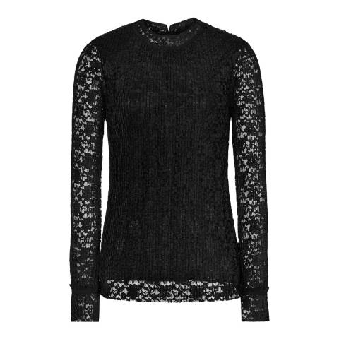 Reiss Black Lace Alexa Top