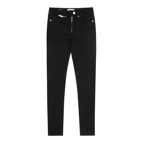 Reiss Black High Waisted Francis Jeans