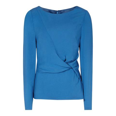 Reiss Blue Knot Front Ora Top