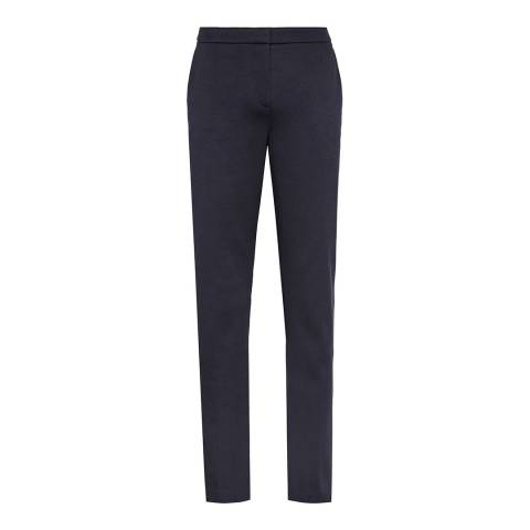 Reiss Navy Cotton Blend Portman Trousers