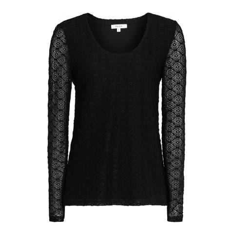 Reiss Black Lace Molly Top