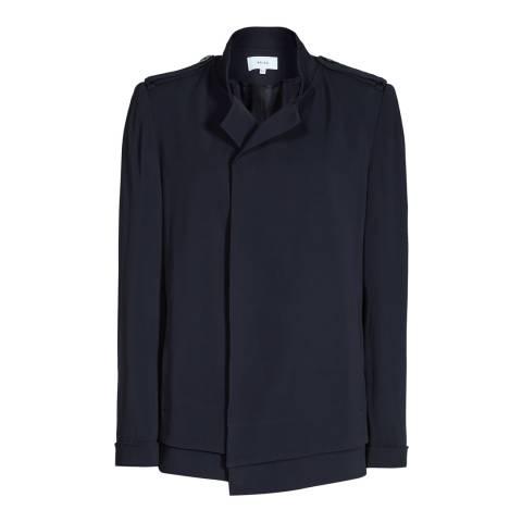 Reiss Navy Fluid Magenta Jacket