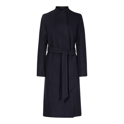 Reiss Navy Oversized Elias Wool Coat