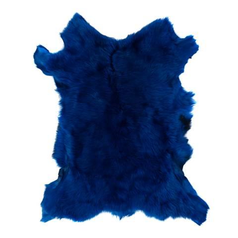 Baa Baa Marine Blue Sheepskin Throw