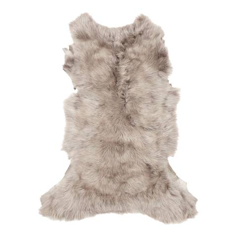 Baa Baa Taupe Sheepskin Throw