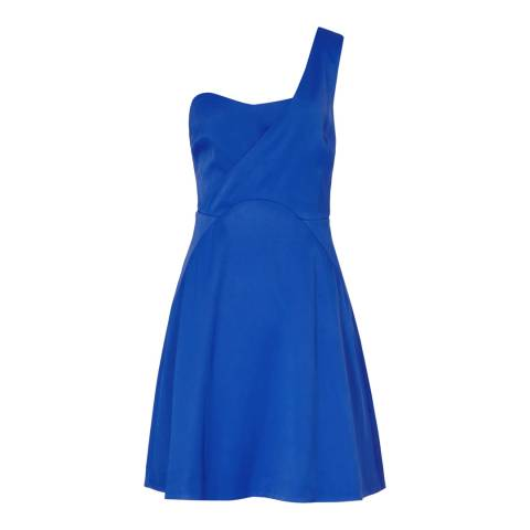 Reiss Blue Asymetric Monceau Dress