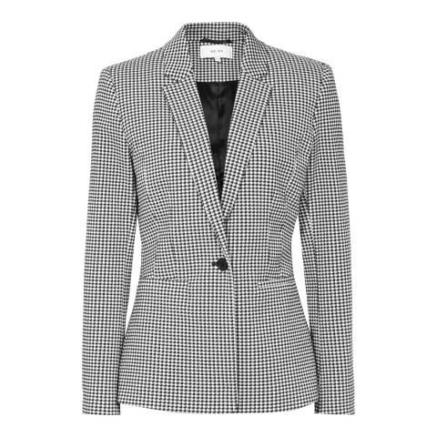 Reiss Black/White Check Linear Jacket