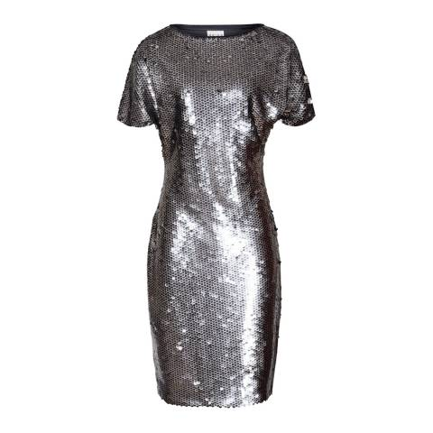 Reiss Navy/Silver Sequin Teresa Dress