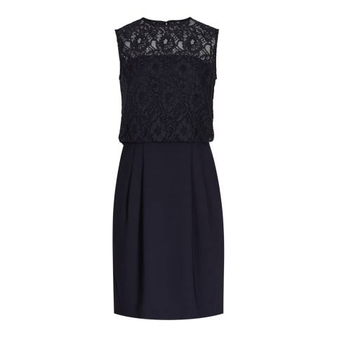 Reiss Navy Lace Bodice Katlun Dress