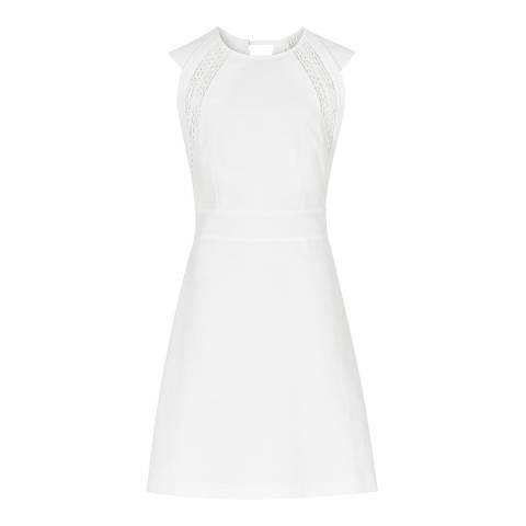 Reiss White Lace Cotton Nikita Dress