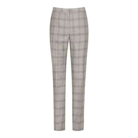 Reiss Grey/Black Slim Webb Trousers
