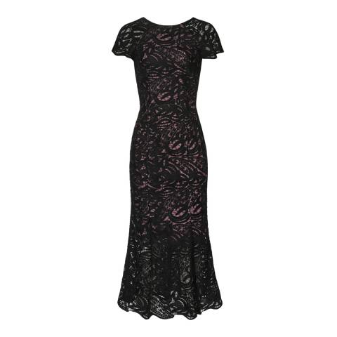 Reiss Black Lace Erin Dress