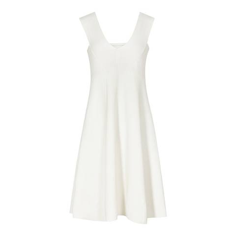 Reiss Cream Fitted A Line Jamie Dress
