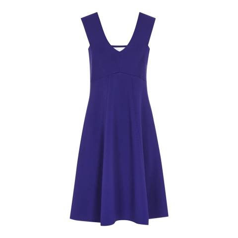 Reiss Blue Fitted A Line Jamie Dress