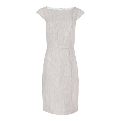 Reiss Grey Tailored Virginia Dress