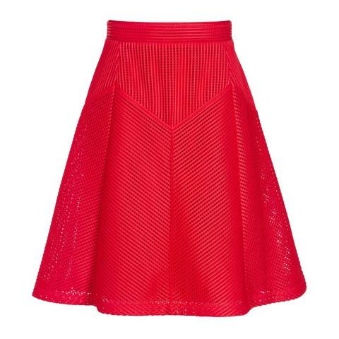 Reiss Red Textured Amythist Skirt