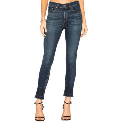 Rag & Bone Women's Indigo Capri Skinny Stretch Cotton Jeans
