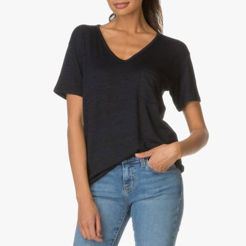 Rag & Bone Women's Dark Navy Jersey Short Sleeve T-Shirt