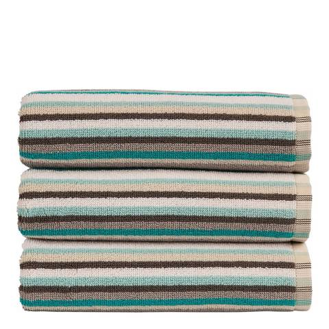 Christy Dove Grey Henley Stripe Hand Towel