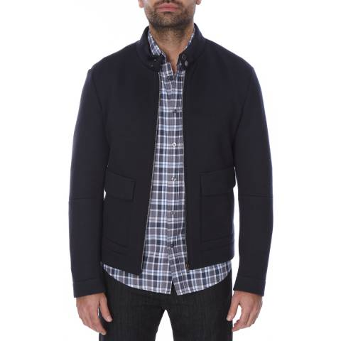 Boss by Hugo Boss Navy Straight Fit Wool Blend T-Coal Jacket