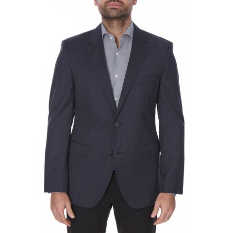 Boss by Hugo Boss Navy Classic Wool The Rider Suit Jacket